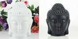 Ceramic Buddha Head Aromatherapy Essential Oil Diffuser & Soft Lighting Feature: 2 Colors