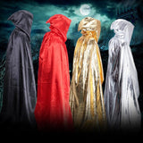 Shiny Metallic Adult Long Hooded Cloak in 7 Colors