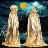 Shiny Metallic Adult Long Hooded Cloak in 4 Colors