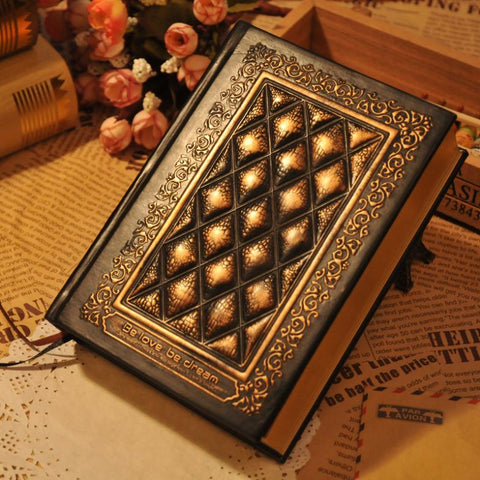 Classic Vintage Look & Feel Hard-Backed Leather Journal, Book of Shadows: 380 pages unlined