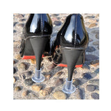 Clear or Black High Heel Protectors for Outdoor Events in 3 Sizes (1 pair)
