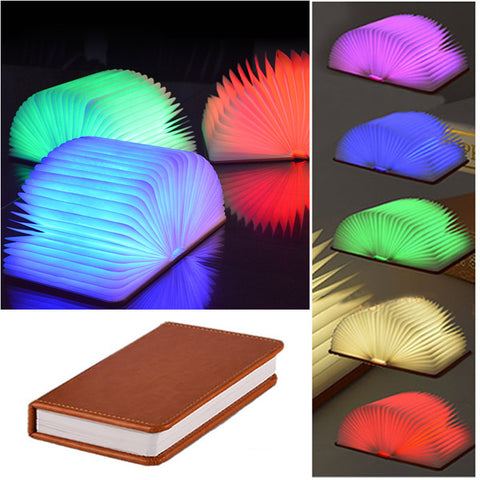 Creative Foldable Pages LED Portable Lamp with USB Charger