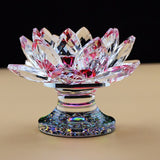 Crystal Lotus Tea Light or Votive Candle Holder in 7 Colors