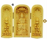Hand Carved Boxwood God/Goddess Display Boxes (10 styles)