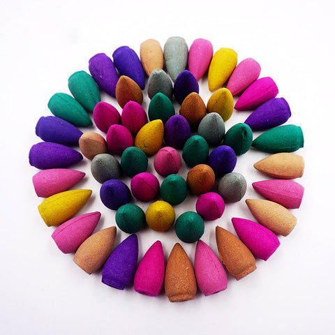 Fragrant Backflow Incense Cones for Backflow Incense Burners: 70pc