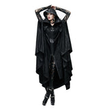 Super High Qaulity Unisex Long Hooded Coat/Cloak w/Pop Collar & Zipper Closure