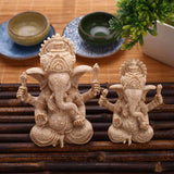 Ganesha God of Obstacles Resin Cast Statues in 2 Sizes