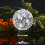 Inclusion Gazing Clear Crystal Ball for Divination or Decoration: 55mm