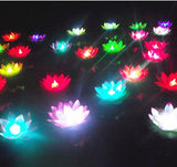 HUGE LOT of 100 Floating Lotus LED Lights: Random Colors