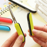 Portable Folding Crafting Scissors w/Protective Case for Safe Transport: 4 Colors