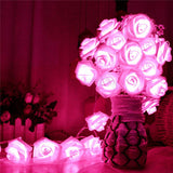 1pc - 20 LED Battery Powered Garland Rose String Lights