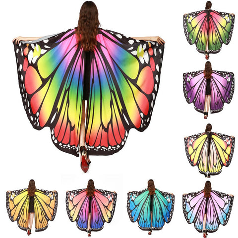 Fair/EDC/Pride Giant Butterfly Wings Cape/Shawl/Scarf (8 color choices)