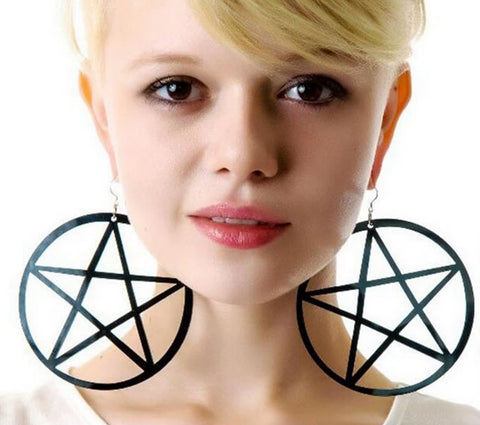 Super Awesome Oversized Pentagram Drop Earrings in 6 Crazy Colors