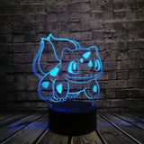 3D LED Table Lamps with 11 different popular Pokemon