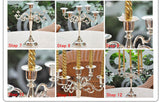 Candelabras 3-Arm & 5-Arm Varieties in 4 Colors: 1pc