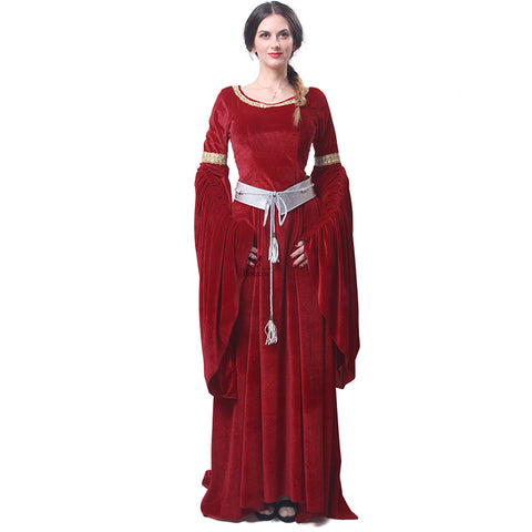 Beautiful Medieval Style Dress w/Bell Sleeves in 5 Colors (S-2XL)