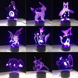 Pokemon 3D LED Holograms w/7 Color Modes (11 choices)