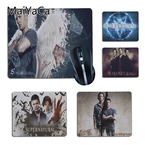 3D printed Supernatural mouse pads in 4 different styles. 2 Different Sizes
