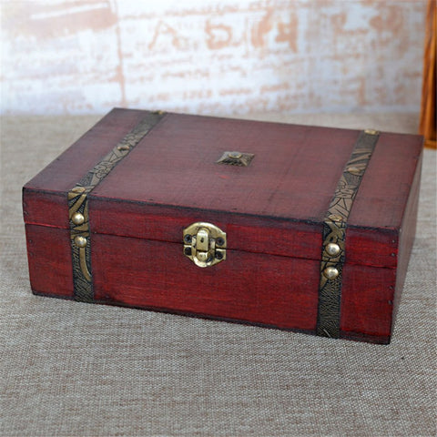 Decorative Wooden Box w/Metal Accents: Keepsakes, Altar Supplies, Jewelry, Misc. Storage