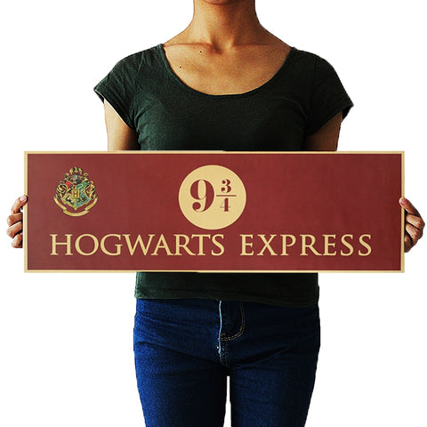 Hogwarts Express Platform 9 3/4 Wall Sticker 72x24 cm