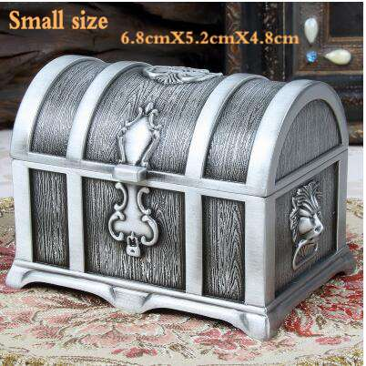Beautiful Antique Looking Metal Jewelry Boxes in 12 Sizes & Colors w/ & w/o Locks