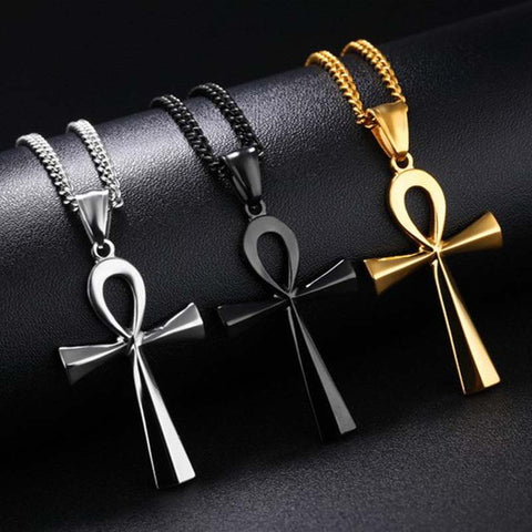 Stainless Steel Coptic Egyptian Ankh (3 colors)