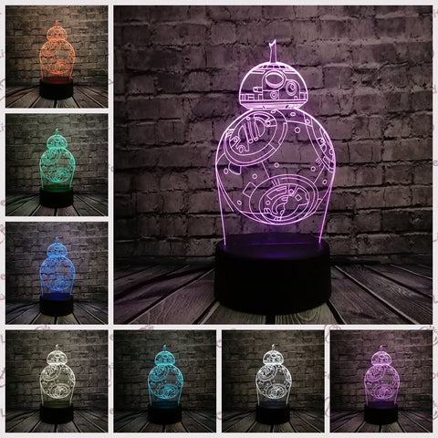 Star Wars 3D LED Table Lamp in 9 different variations.