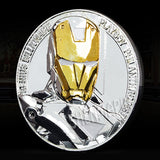 Gold & Silver Plated Iron Man Collector's Coin w/Protective Case