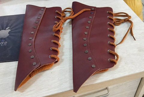 Leather Cosplay Wrist Guards (2 Colors)