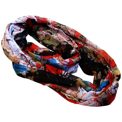 Infinity Scarf Abstract Design