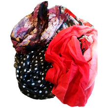 Infinity Scarf Red and Pink Ombre