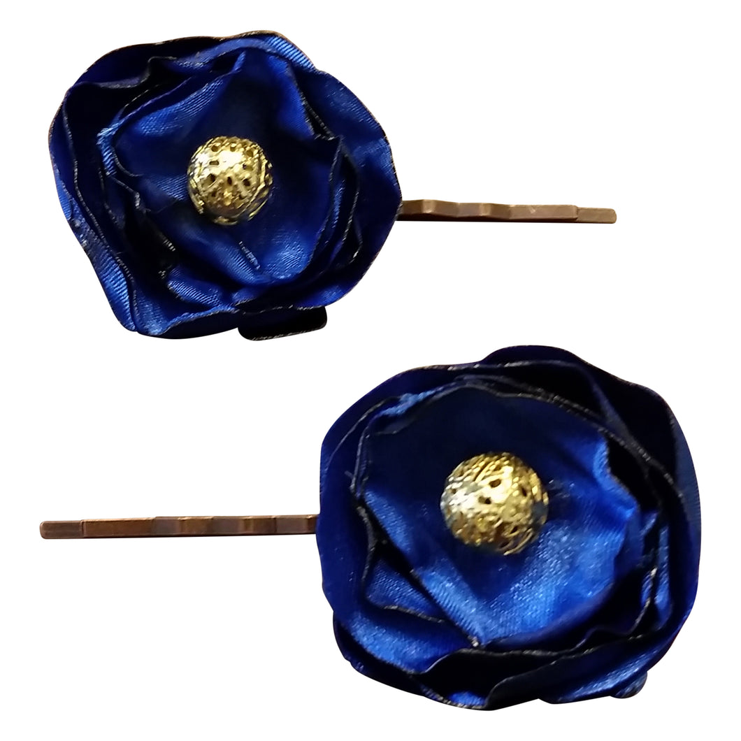 hair pins midnight blue