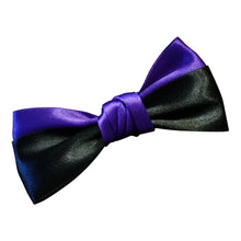 Purple  and Black Satin Hairbow - thatboholife