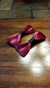 Burgundy Satin Hairbow Sets - thatboholife