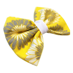 Hairbow/Yellow and Gray with Tulle - thatboholife