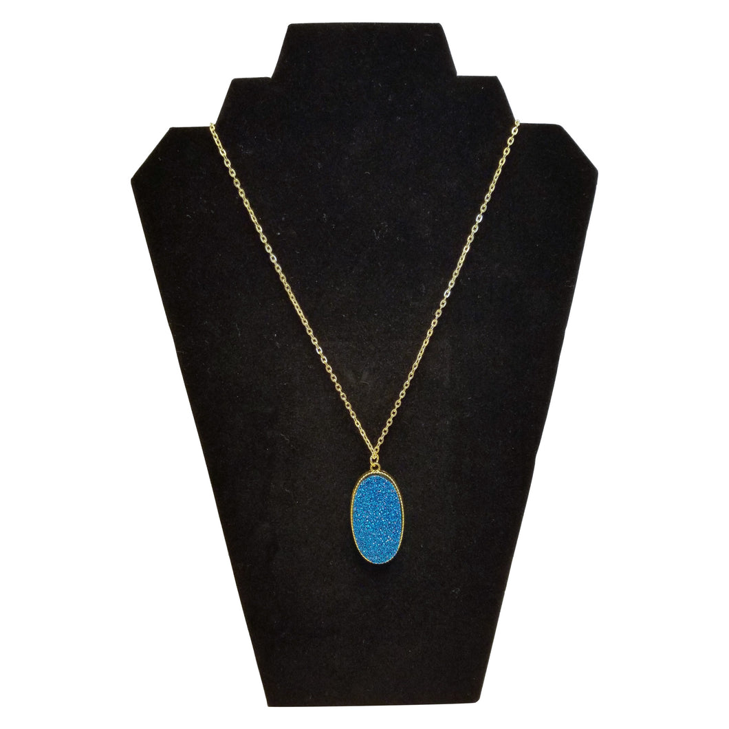 Turquoise and Gold Necklace - thatboholife