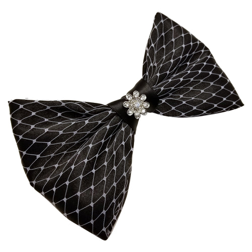 Hair Bow Black and White - thatboholife