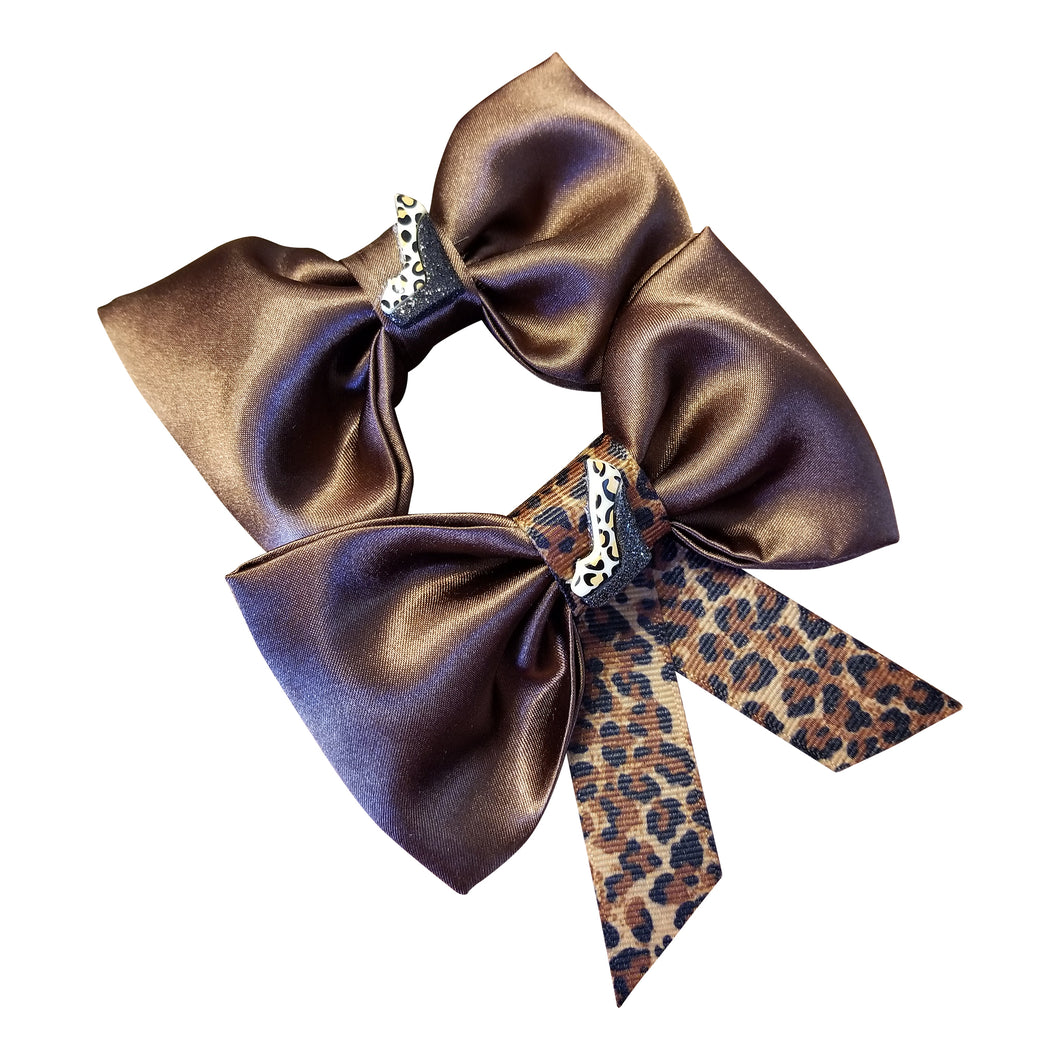 Hairbow Set/ Brown &Leopard - thatboholife