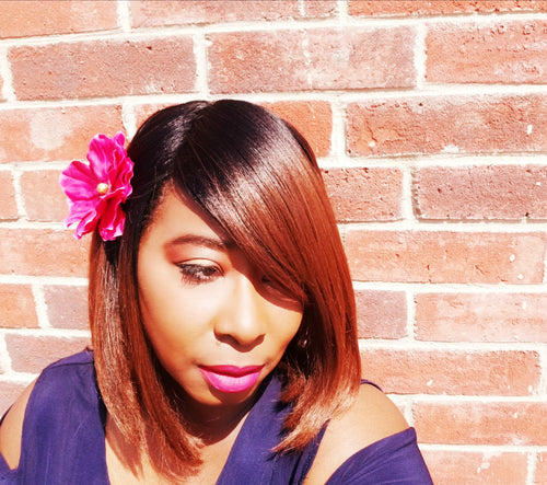 Hair  Flowers Pink - thatboholife