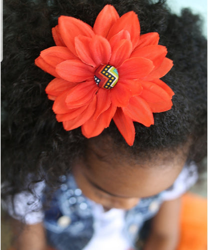 Hair Flower / Orange - thatboholife