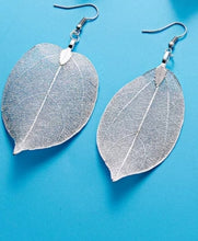 Silver Leaf Earrings - thatboholife