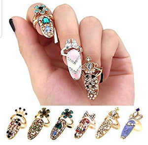 Fingernail Rings Set - thatboholife