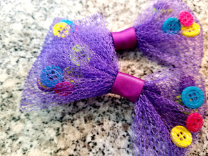 Hair Bows/Netting & Buttons - thatboholife