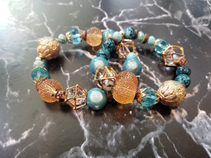 Glass Bead Bracelet Set - thatboholife