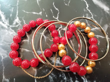 Glass and Chain Bracelet set with Bangles - thatboholife