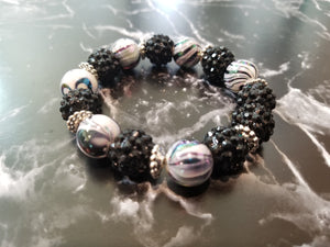 Resin  Beaded Bracelet - thatboholife