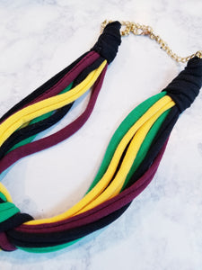 Fabric Necklace - thatboholife