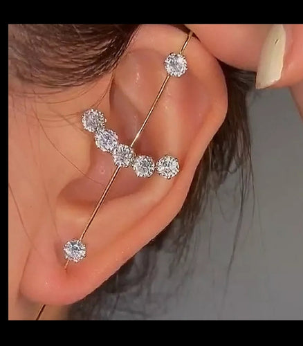Ear Cuff Rhinestone Design