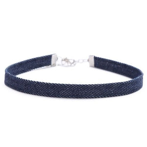 Denim Choker Necklaces - thatboholife