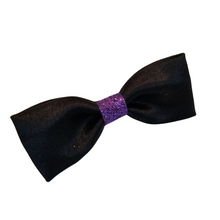 Ladies Black and Purple  Bowtie